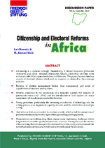 Citizenship and electoral reforms in Africa